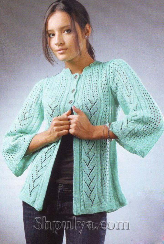 схемы вязания крючком ажурных кофточек для женщин