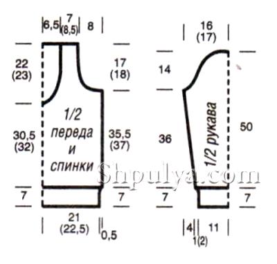 Вязание на спицах размер 54 56 33
