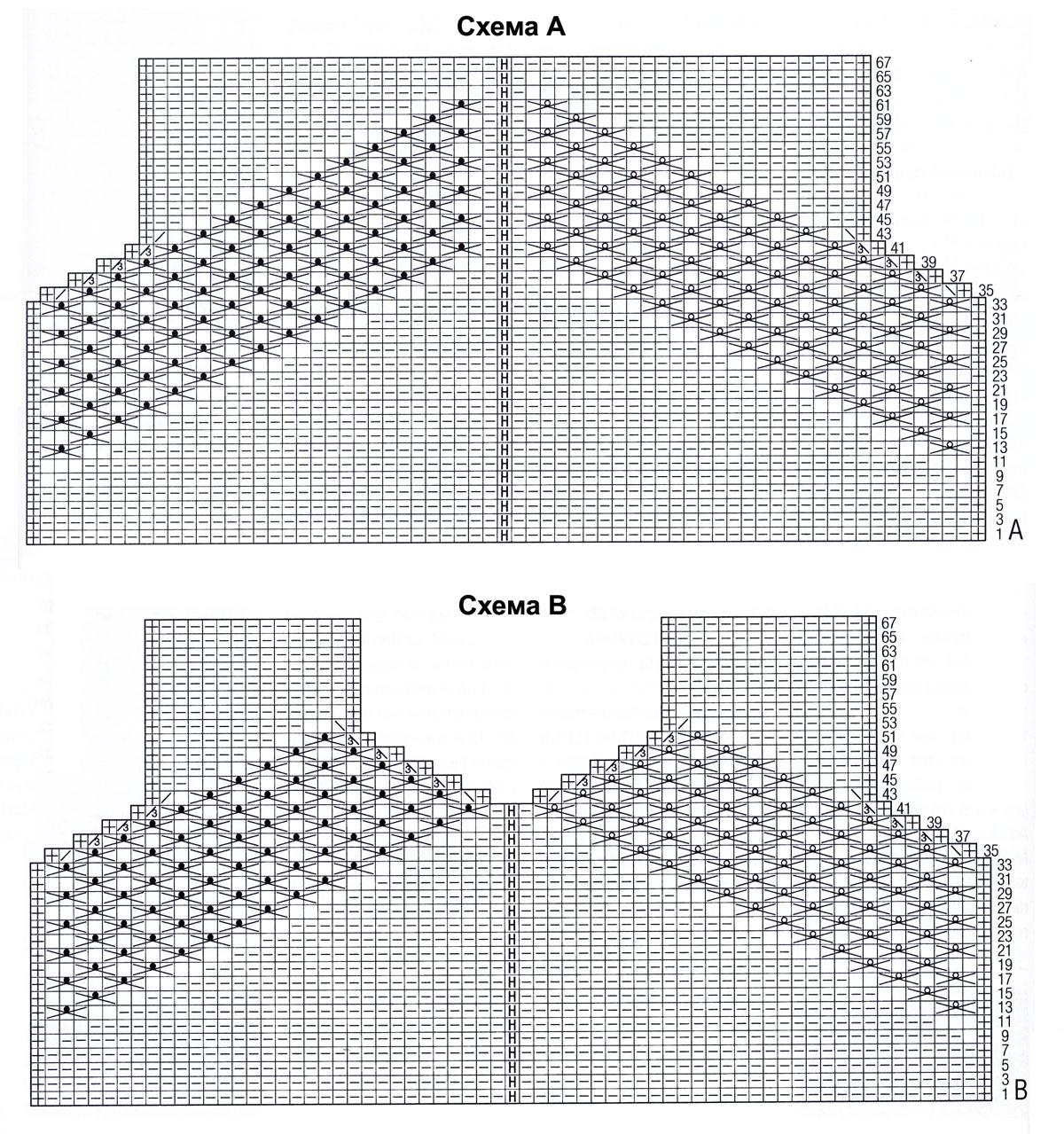 Схемы для вязанием спицами звездочки схема