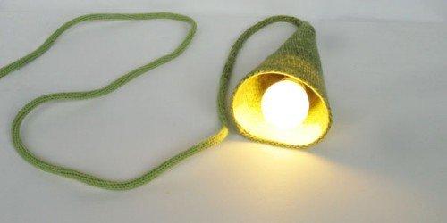 Вязаная лампа