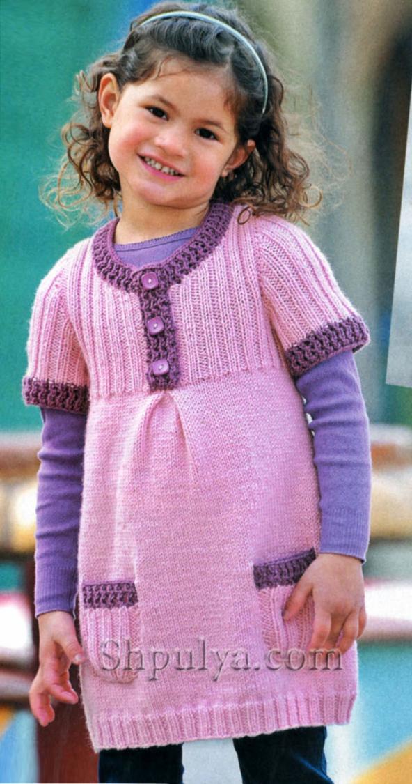 вязаное платье для девочки купить