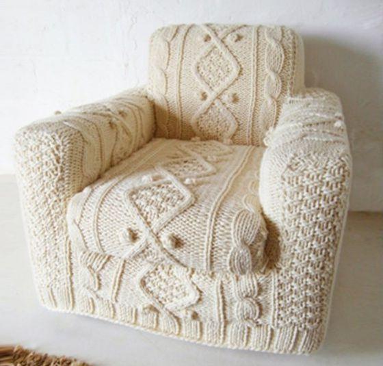 Вязание в интерьере - вязаное кресло