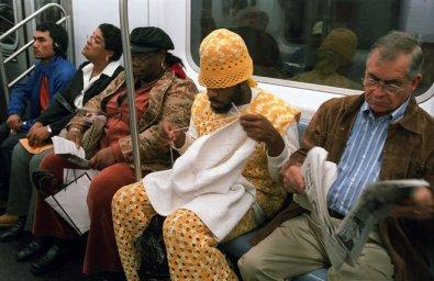 Вязание мужской релакс - в метро